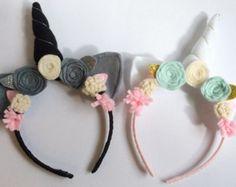 Unicorn Ears Headband...Unicorn Headband...Dress by HallieBDesigns