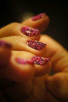 Caviar manicure - caviar nails