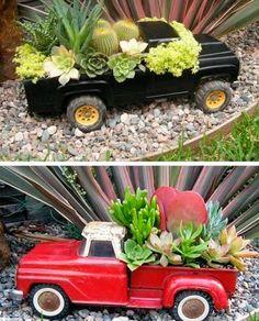Os brinquedos reciclados podem tornar-se em verdadeiros objetos decorativos e continuar a fazer parte do mobiliário de sua casa.