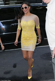 Ready for her close up: Paula Patton put her amazing curves on display at the Today Show in New York on Wednesday morning : Click to see more pics