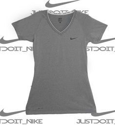 Nike Womens PRO Ss Dri-Fit Short Sleeve V Neck Athletic Training Shirt  Small   976b912cd