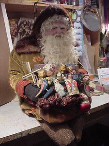 Norma David Decamp Large Seated Santa Lots of Toys Gorgeous | eBay