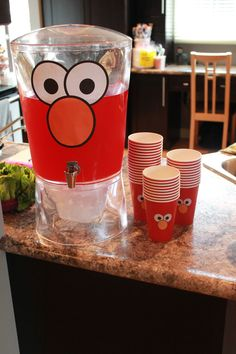 Sesame Street Party Decoration.... Love the punch!!!