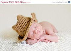 Sale Newborn cowboy hat cowgirl hat children by ktandthesquid, $23.40
