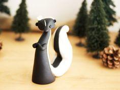 Skunk Sculpture by Bonjour Poupette by BonjourPoupette on Etsy