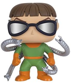 From the Marvel Universe Doc Ock as a stylized POP vinyl from Funko! Figure stands 3 3/4 inches and comes in a window display box. Check out the other Marvel figures from Funko! Collect them all!...