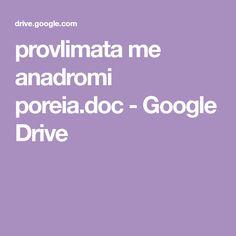 provlimata me anadromi poreia.doc - Google Drive Google Drive