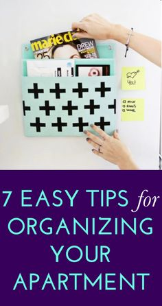 What tips do you have for organizing your apartment? #diy #decor
