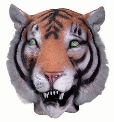 Bring out that inner jungle animal with the help of this Deluxe Latex Tiger Mask. Baby Girl Halloween, Tiger Halloween, Maske Halloween, Halloween Club, Animal Halloween Costumes, Trendy Halloween, Halloween Costume Accessories, Halloween Masks, Halloween Forum