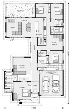 Beachmere 303 - G. Gardner Homes New House Plans, Dream House Plans, Modern House Plans, Small House Plans, House Floor Plans, Outdoor Living Areas, Indoor Outdoor Living, Outdoor Rooms, Modern Bungalow House