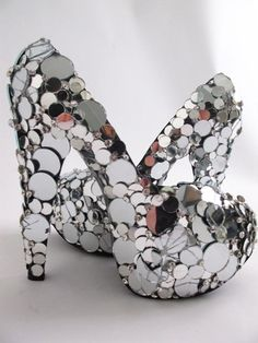 Mirrored shoes. I don't know why but I love these!
