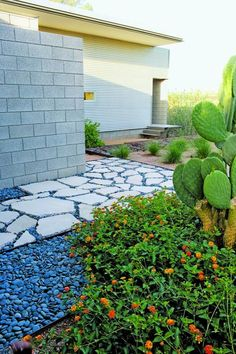 modern desert landscape with an awesome use of concrete