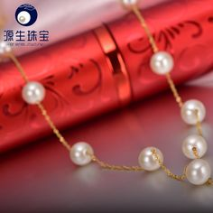 Aliexpress.com : Buy pearl jewelry Fine jewelry 7  8mm attractive freshwater pearl necklace for women YSN023 from Reliable gift bag with handle suppliers on pearls by yuansheng