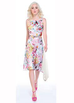 9836c2b9bb Michaela Louisa 8034 Pastel Print Dress Holiday Dresses, Summer Dresses,  Spring Racing, Melbourne