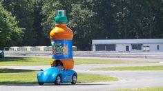 Le vehicule 100% électrique de Fruit Shoot pour la caravane du Tour de France 2015 Fruit Shoot, Drink Bottles, Drinks, Blog, Caravan, Electric, Drinking, Beverages, Drink