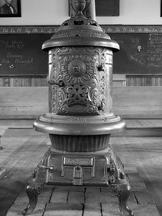 potbelly stove in a one room schoolhouse - one of my favorite pics I've taken