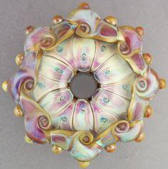 Etsy Transaction - Leah Nietz - Handmade lampwork glass focal bead - I Dream of Spring ♥ Clay Beads, Lampwork Beads, Handmade Beads, Earrings Handmade, Lesage, Schmuck Design, Polymer Clay Art, Bead Art, Bead Crafts