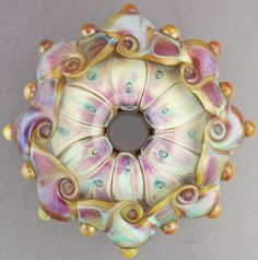 Leah Nietz - Handmade lampwork glass focal bead  - I Dream of Spring