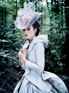Keira Knightley Covers Vogue US October 2012 in fall haute couture. Mario Testino styling by Grace Coddington