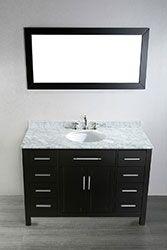 47'' Bosconi SB-252-3 Contemporary Single Vanity (Medicine Cabinet) #vanities #HomeRemodel #BathroomRemodel #BlondyBathHome #Freestanding