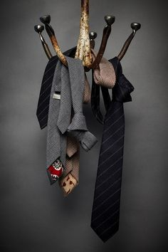 Bunch of beautiful ties.