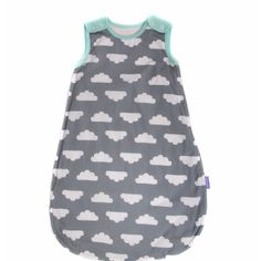 Mama Designs Babasac Sleep Sack - Grey (Turquoise): Babasac is a brand new range of sleeping bags for babies, with inner layers that zip out, creating a multi-tog 2 - in - 1 solution.  -Zip finishes at bottom for easy night changing -2.5 tog and 1.0 tog in one bag -Fully tested to British Safety Standard 8510:20009