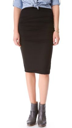 Three Dots Double Layer Ruched Skirt