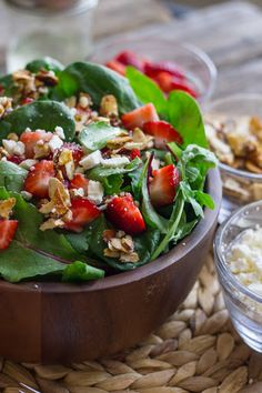 Strawberry and Spinach Salad With Almond Vinaigrette Recipe on Yummly