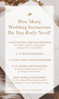 Find out how many wedding invitations you need to order–even if your guest list isn't finalized! Plus our wedding guest list worksheet is ideal for brides in the early stages of wedding planning. Wedding Ceremony Ideas, Wedding Advice, Plan Your Wedding, Fall Wedding, Dream Wedding, Wedding Venues, Post Wedding, Budget Wedding, Wedding Blog