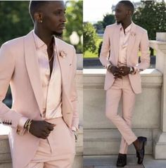 Pink Wedding Tuxedos Groom Suits For Men 2021 Slim Fit Prom Party Dinner Notched Lapel (Jacket +Pants) Business Tuxedo Wedding, Wedding Tuxedos, Prom Party, Wedding Party Dresses, Mens Suits, Groom Suits, Cheap Suits, Suit Jacket, Pink Suit Men