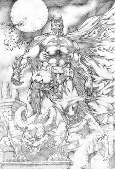 Batman by Jose Luis Batman Comic Wallpaper, Batman Artwork, Batman Drawing, Comic Drawing, Comic Book Characters, Comic Books Art, Batman Kunst, Univers Dc, Im Batman