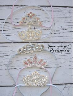 Newborn Headband  Baby Girl Crown Headband  by JoMazingAccessories, $11.99 Can be used on the dessert table