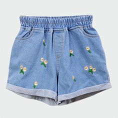 Choies - Short Floral Bleu