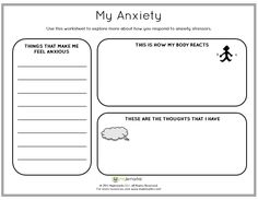help children cope with their anxiety using this worksheet by mylemarks see more resources at. Black Bedroom Furniture Sets. Home Design Ideas