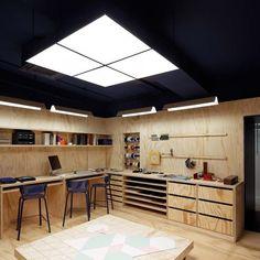 Workshop Design, Home Workshop, Garage Workshop, Design Garage, House Design, Garage Art Studio, House Studio, Carport Modern, Garage Atelier