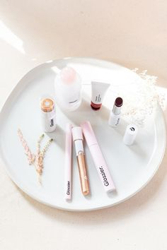 From a full face of makeup to light touch-ups throughout the day,Glossier'slimited-edition Wedding Day Skincare + Makeup Sets and individual products have all your favorite (and soon-to-be-favorite) staples to meet the beauty needs of you, your wedding party, and your guests!#StyleMePretty #Glossier #WeddingBeauty #WeddingSkinCare Balm Dotcom Trio, Perfecting Skin Tint, Stretch Concealer, Milky Jelly Cleanser, Glossier You, Cleanser For Oily Skin, Priming Moisturizer, Day Glow, Full Face Makeup