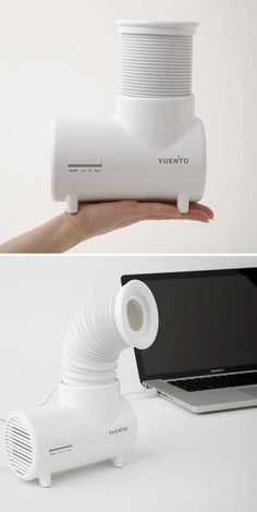 Elephant Desk Fan - turn the trunk to direct air flow!