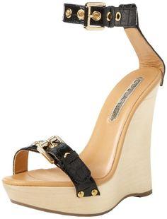 DSQUARED2 Women's Sunset St Cocco Ankle-Strap Sandal,Black,37 EU/7 M US
