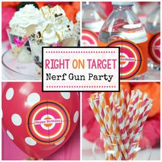 This Nerf gun party makes a perfect birthday party for ANY age! Whether it's a gang of little boys or a group of teenage girls, everyone has fun at this one! We've got lots of Nerf gun party ideas for you from food to decor, printables & more!