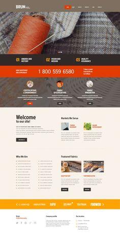 WordPress Template , Industrial
