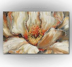 Magnolia up close features soft and inviting colors, oil painting on canvas Elegant Modern Home Decor by Nizamas ready to hang Oil Painting Flowers, Oil Painting On Canvas, Canvas Art, Ship Paintings, Your Paintings, Thanksgiving Art, Sell My Art, Flower Artwork, Texture Art