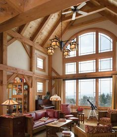 Imagine this room having a view of a lake or creek.