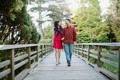 San Francisco Engagement Photo idea: Japanese Tea Garden bridge