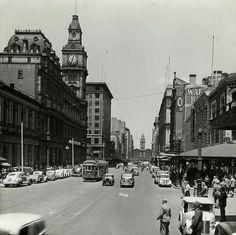 Elizabeth St,Melbourne in Victoria in 1930.