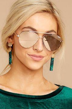 7b1ea3a1c9 Quay x Jaclyn Hill Roxanne Gold Rose Sunglasses