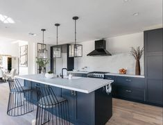Another sun-splashed view from this Beachwood Canyon CA beauty featuring our paintable DIY Shaker doors on IKEA cabinets. Photo by… Custom Cabinet Doors, Custom Cabinets, Ikea Kitchen Cabinets, Kitchen Doors, Kitchen Shop, Kitchen Design, Kitchen Ideas, Shaker Doors, Hollywood Hills