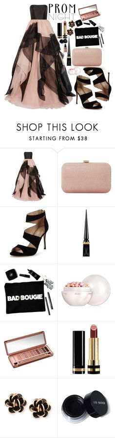 """""""The perfect Prom Night"""" by fangirl-preferences ❤ liked on Polyvore featuring Reem Acra, Dune, Carvela, Christian Louboutin, Guerlain, Urban Decay, Gucci, Chantecler and MAKE UP FOR EVER"""