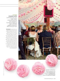 Our Poms in Martha Stewart Real Weddings Special Issue...