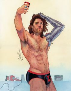 "kevinwada: "" Bucky Barnes The Winter selfie ECCC 2016 commission """