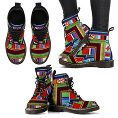 These Amazing African Maasai Adventure boots are made with high quality materials. Excellent construction for comfort and durability. Buy your pair today at www.mooarvaleous.myshopify.com $75 a pair Adventure Boots, Ladies Boots, Amazing Adventures, Construction, African, Pairs, Sandals, Lady, Stuff To Buy